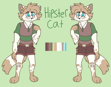 Hipster Cat: OTA Adoptable*OPEN* by Twilerfall