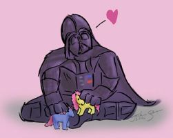 Darth Loves His Ponies by jackieocean