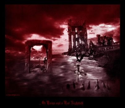 Of Ruins and a Red Nightfall by sihaya