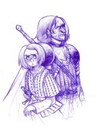 Arya and the Hound by susannguyen
