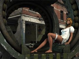 Posing in old tunnel unit by Sedorrr