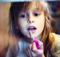girl and lipstick by lafaette