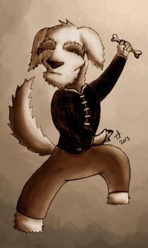 kungfu dog by tungky-loch
