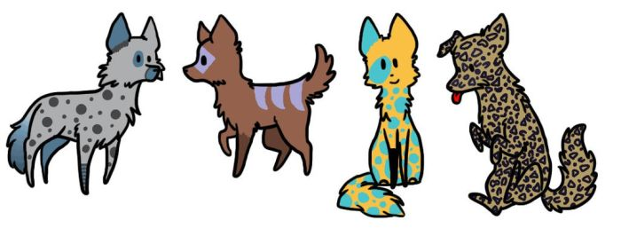 Cute Wolf Adopts Name Your Price! by livi1211