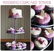 Wedding cupcake tower by kupenska