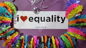 I Love Equality: Origami Fan Folded PRIDE Lei by PoeticLotusCreations