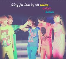 shinee in all colors by wafo7