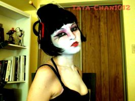 Geisha gone Kabuki Makeup Attempt by Tata-Chan1012