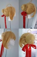 Fate/Extra Saber Wig by TMLiza