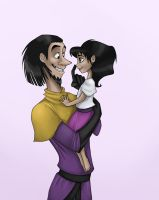 Young Clopin and little Esmeralda by SelenaVP