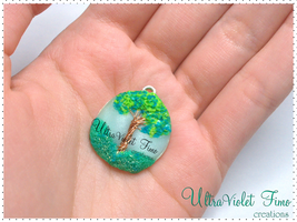 Tree created with Polymer clay and Copper by Crystarbor
