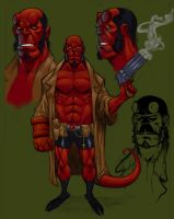 Hellboy Sketch by Alentrix