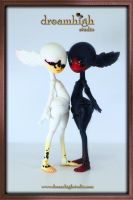 ODILIA and ODILE the white and black swan by DreamHighStudio