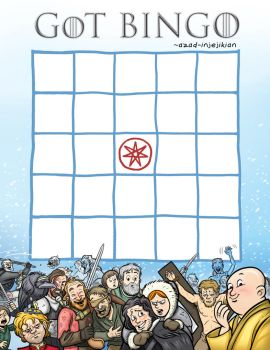 Game of Thrones BINGO! by Azad-Injejikian
