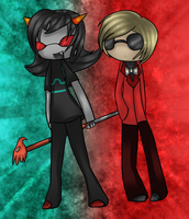 Dave and Terezi by Kiwiwi-Gunso
