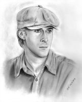 Ryan Gosling pencil portrait (The Notebook) by Skylark6277
