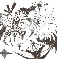 Cacophony hand drawn by Syncratio400