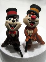 Chip And Dale Figurines by Sliceofcake