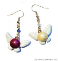 Zelda Fairy Earrings, Tatl and Tael by xhellojackiex