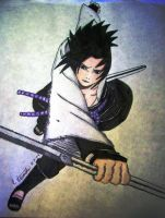 SASUKE ACTION POSE by GaaraGirl53