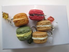 Macaroon charms by WaterGleam