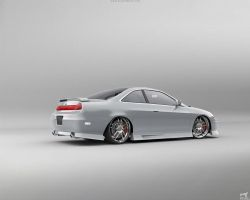 Honda Accord Coupe Rear by Liemn