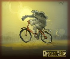 Elephant on a Bike by DC-Tiki