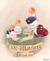 Thank you all! - 100 watchers - Moogles! by Dicenete