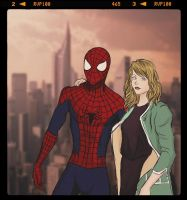 Spidey and Gwen by Guinicius