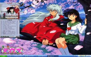 Inuyasha and Kagome by nyunyu-chan