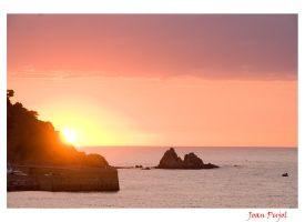 Sunrise in blanes by lujop