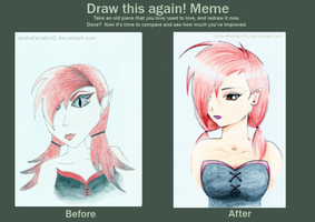 Draw again meme 2 - Ruby by AtticCreationz2