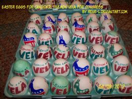 Easter Eggs for Filemon Vela by Rene L by Rene-L
