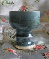 Moss green goblet by CorazondeDios