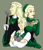 Malfoy Family Portrait by Murielle