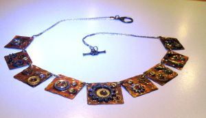 Steampunk necklace by Peaceofshine