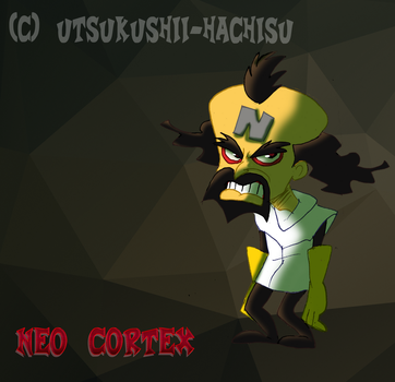 Neo Cortex simple doodle by Utsukushii-hachisu