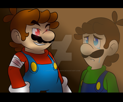 Luigi: No..Mario.. by LuigiFlowerDragon
