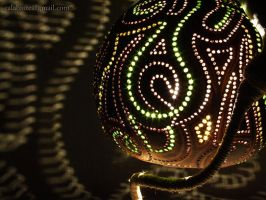 Table lamp I - Greens - by night 2 by Calabarte