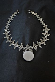 Full Silver Moon Necklace by Girl216