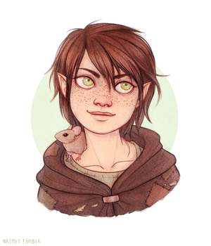 Varris Shortcloak - Dungeons and Dragons Halfling by Naimly