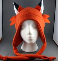 Deep Orange Fox with Whiskers and Ties by wikiwisemandotcom
