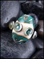 Sea Turtle Sands - Glass Lampwork Bead by andromeda