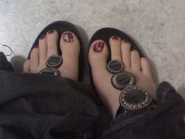 Burgundy with Stone Sandals by Yes-Mistress--Please