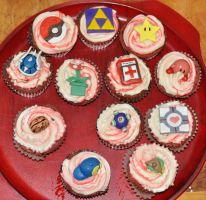 Gamer Cupcakes by Vampjezzc