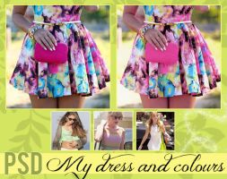 +My dress and colours - PSD by idieforyou