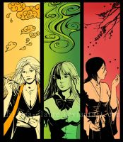 Bleach bookmarks - women by Liliana-Claire