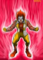 Ronald Powering Up by zenzmurfy