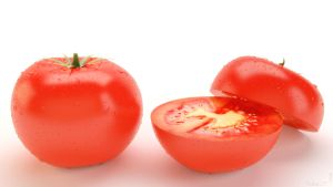 3D Tomato with water drops - Video Tutorial by Patan77xD