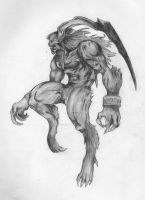 FFVIII Ifrit Sketch by SquidAndMilk